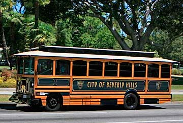 tours con trolley Beverly Hills